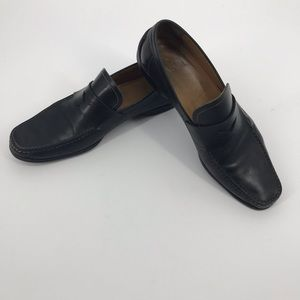 Men's Paul Stuart Black Penny Loafers Size 42